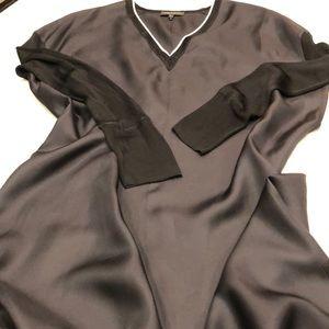 Rag & bone Dress silk with knit v neck